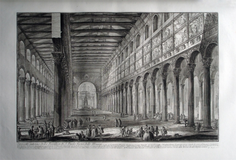 """Basilico """"Innenansicht St. Paolo fuori le Mura"""""""