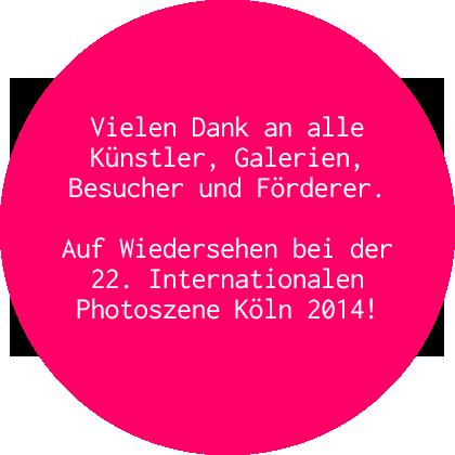 Auf Wiedersehen 21. Internationale Photoszene Köln